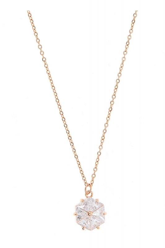 Flower Steel Necklace (St)