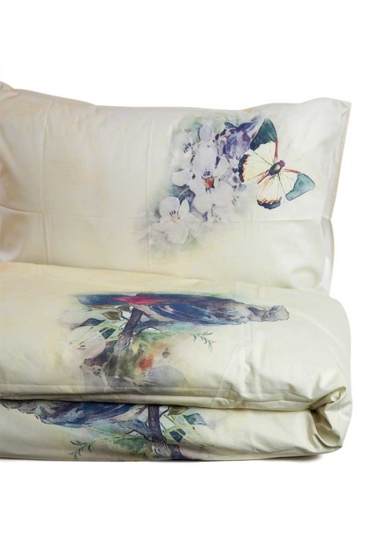 Double Linens Set With Blue Patterns (200X220)