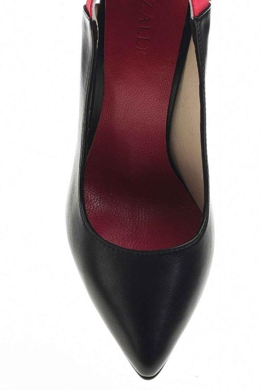 Bi-Colored Leather Heels (Black)