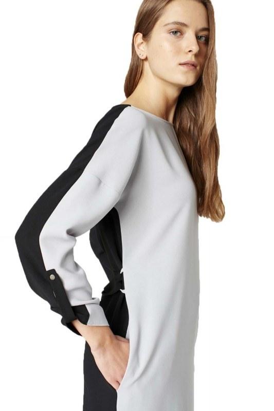 Bicolored Tunic (Grey)