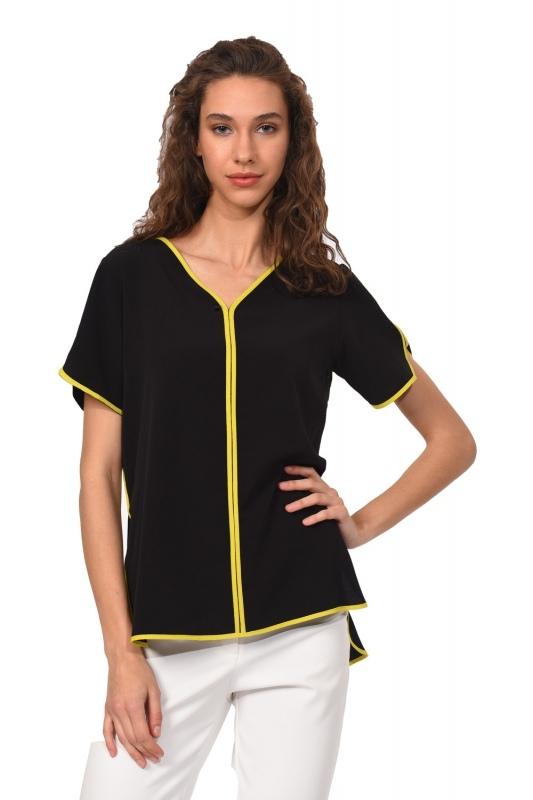 Striped Blouse (Black)