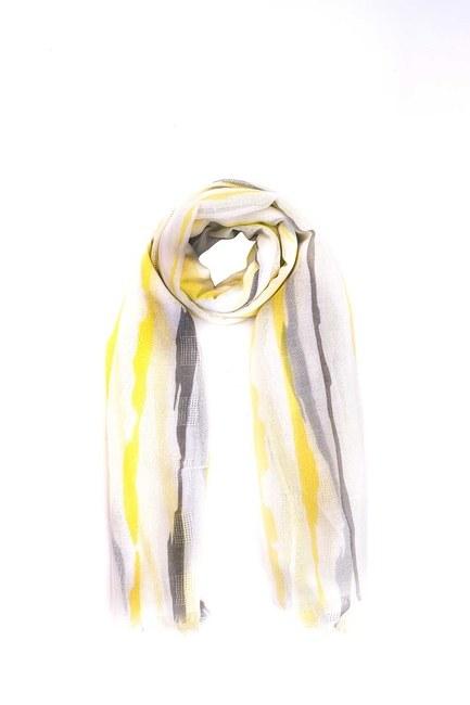 Çizgi Desenli Şal (Sarı) - Thumbnail