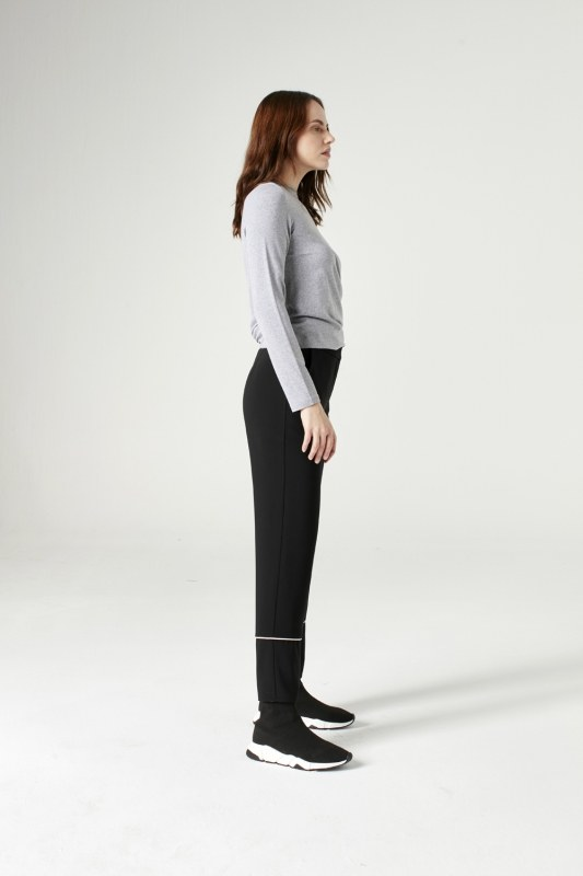 Striped Leg Trousers (Black)