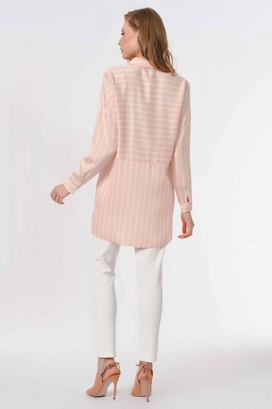 Striped Shirt Blouse (Pink)