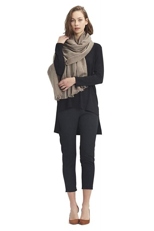 Striped Shawl (Ecru)