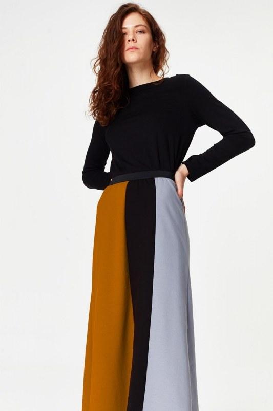 Multi-Pieces Skirt (Grey)