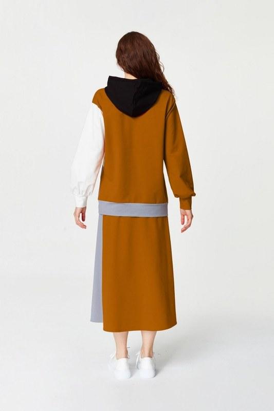 Çok Parçalı Sweatshirt (Gri)