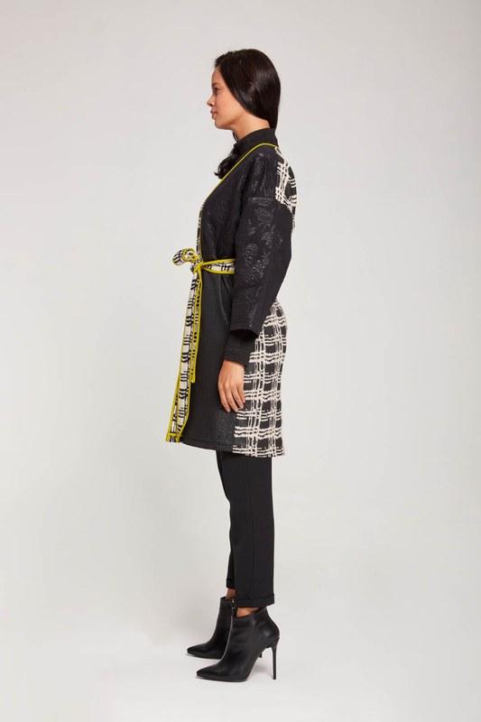 Colorful Long Kimono (Black/White)