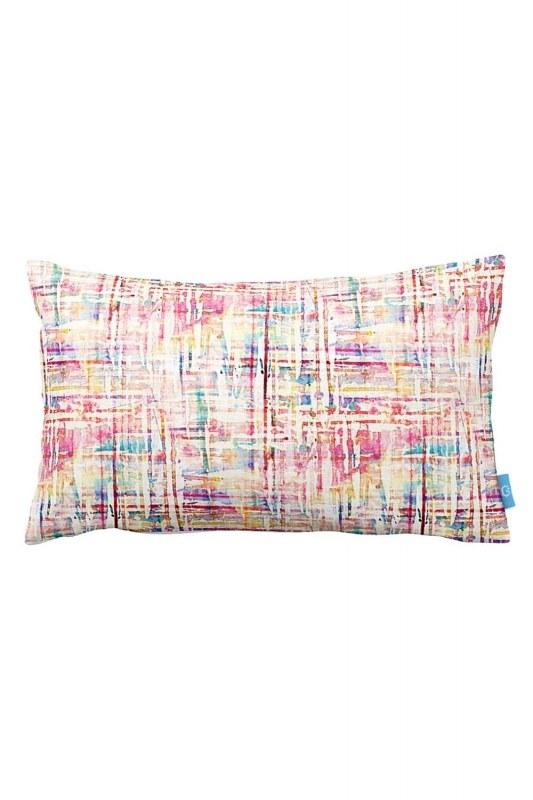 غطاء وسادة مزين بالوان متراقصة(33X57)