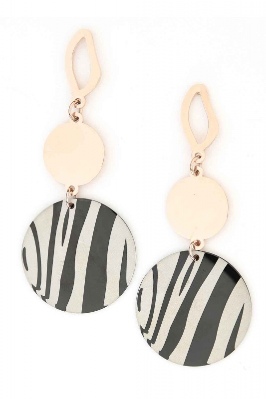 Dangling Steel Earrings (Oval) (St)