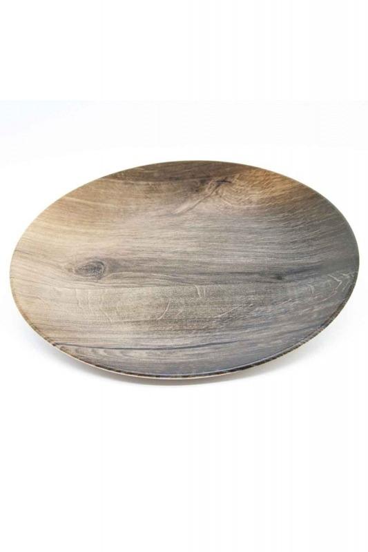 Decorative Plate (Wood Pattern)