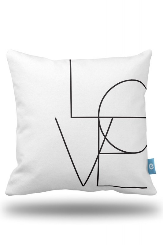 Aşk Dekoratif Yastık Kılıfı (43X43)