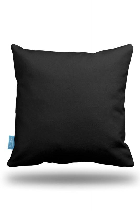 Black Decorative Pillow Case (43X43)