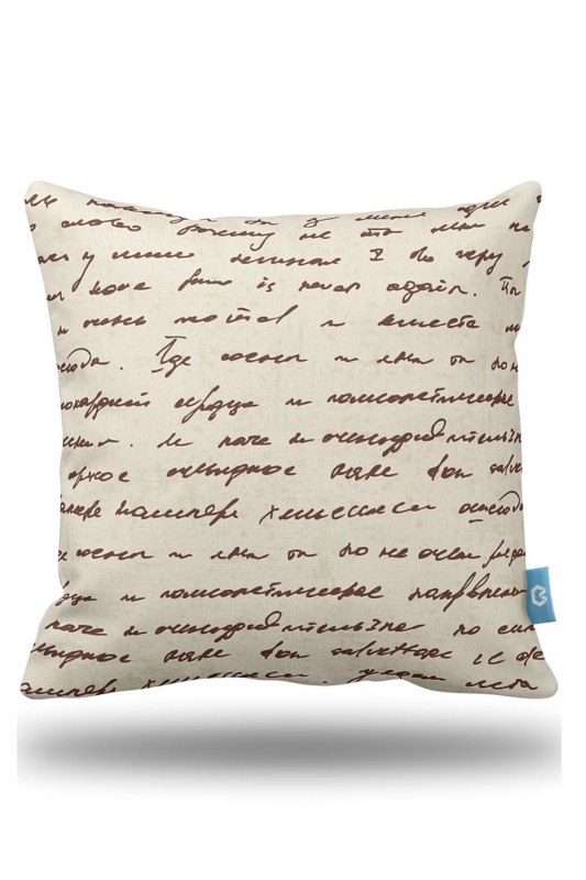 Decorative Pillow Case With Lettering Pattern (43X43)