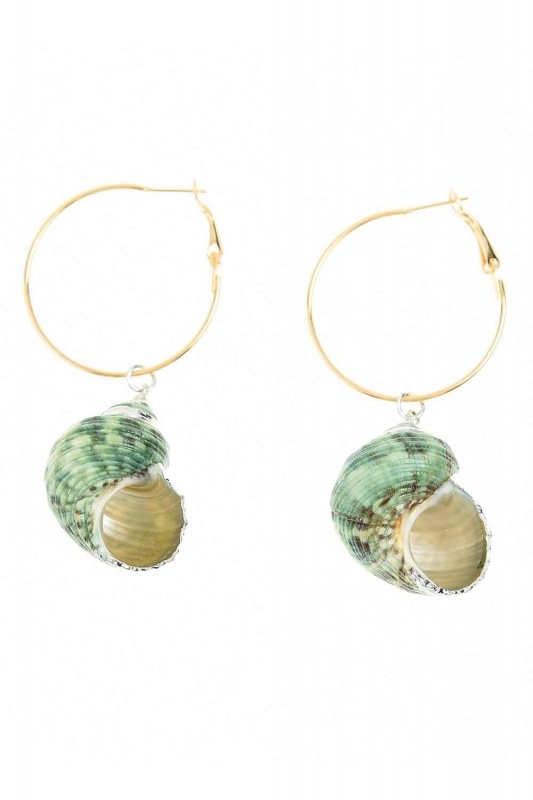 Seashell Dangling Earrings (St)
