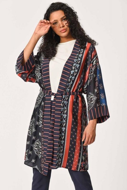 Patterned Line Kimono (Mix)