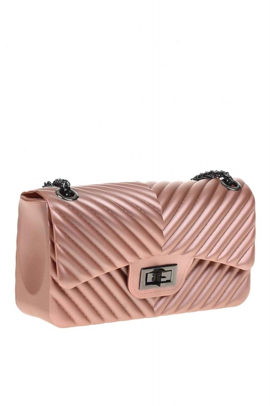 Patterned Hand Bag (Pink)