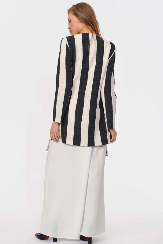 Design Striped Jacket (Black/White)