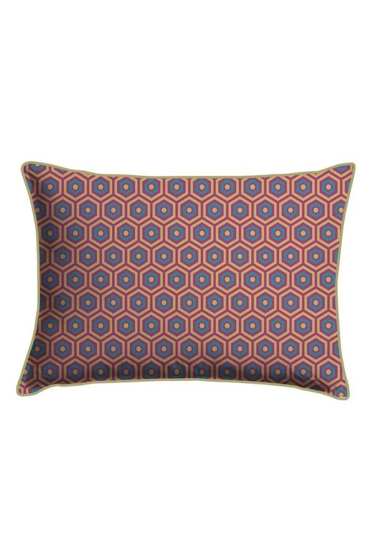 Digital Printed Honeycomb Lace Pillow Cover (30X50)
