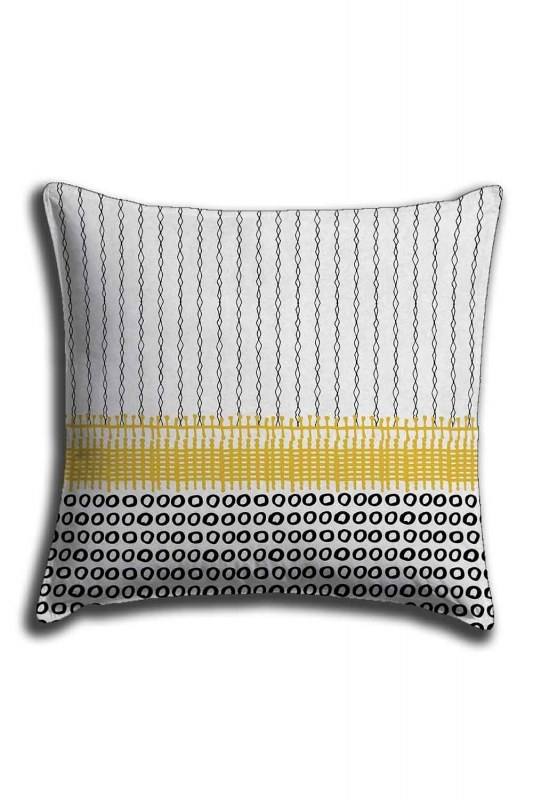 Digital Printed Patternful Lace Pillow Cover (44X44)