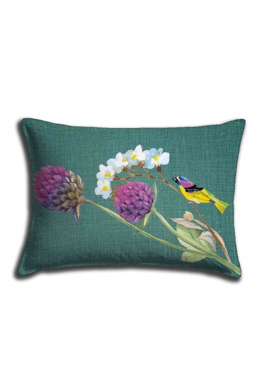 Digital Printed Green Nature Lace Pillow Cover (30X50)
