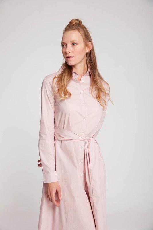 فستان قميص عمودي (مسحوق)