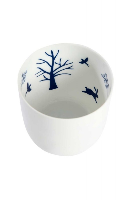 Ceramic Candle Holder With Nature Motives