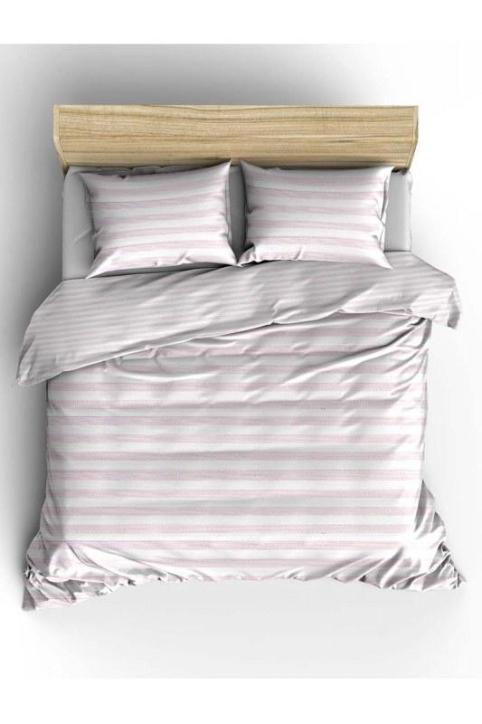 طقم غطاء لحاف مزين باللون الوردي (240X220)