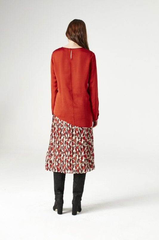 Knot Detailed Blouse (Claret Red)