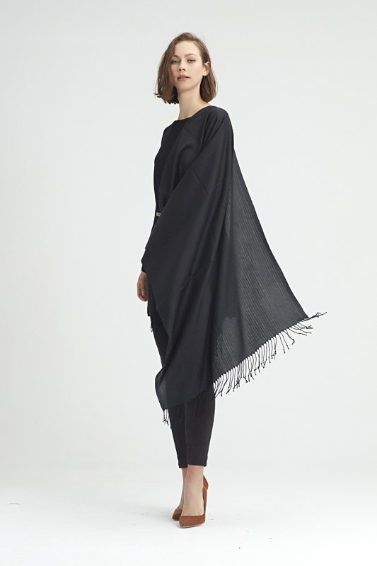 Düz Şal (Siyah)