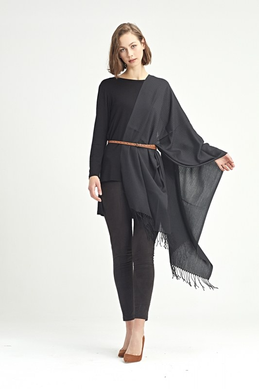 Plain Shawl (Black)