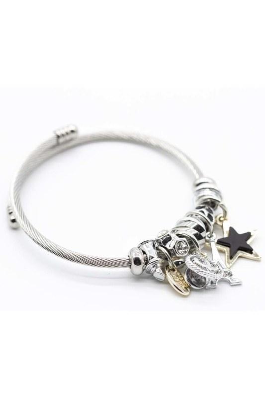 Eiffel Tower Bracelet (Black)