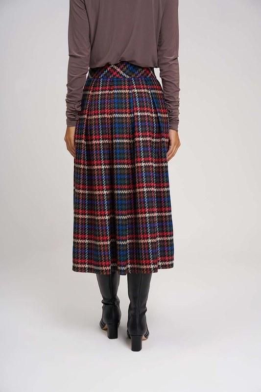Plaid Multi Colored Skirt