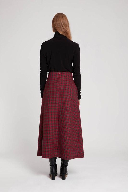 Plaid Skirt (Red)