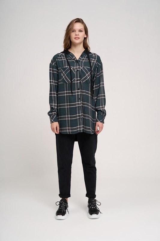 قميص مقنعين عادي (الأخضر)