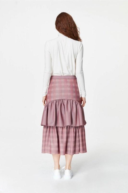 تنورة طويلة منقوشة (خمري)