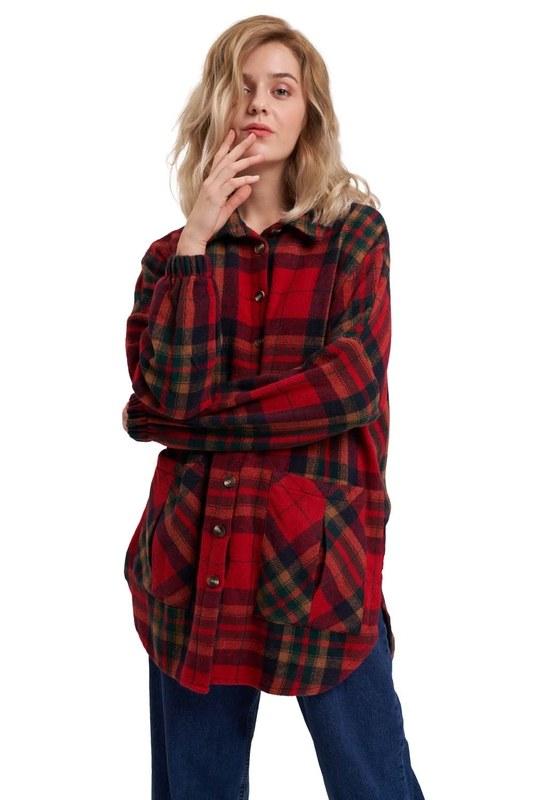 Ekose Oduncu Gömlek (Kırmızı)