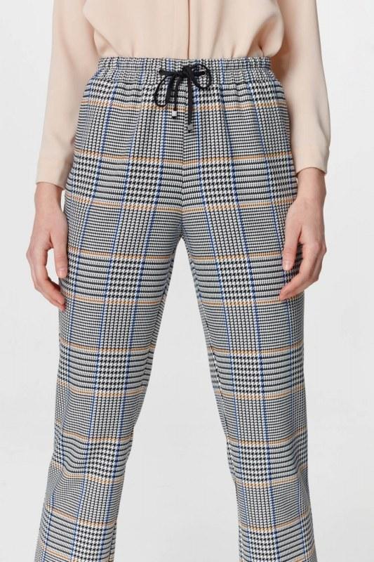 Ekose Rahat Pantolon (Mavi/Gri)