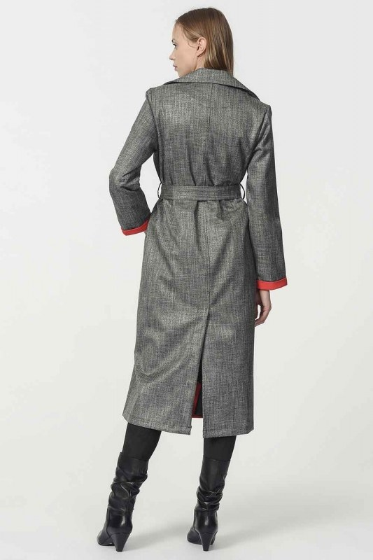 Plaid Trenchcoat (Red)
