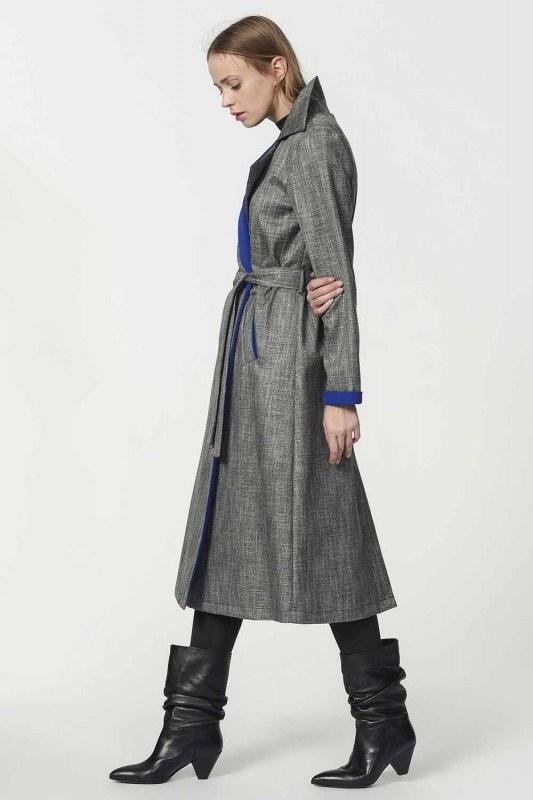 Plaid Trenchcoat (Blue)