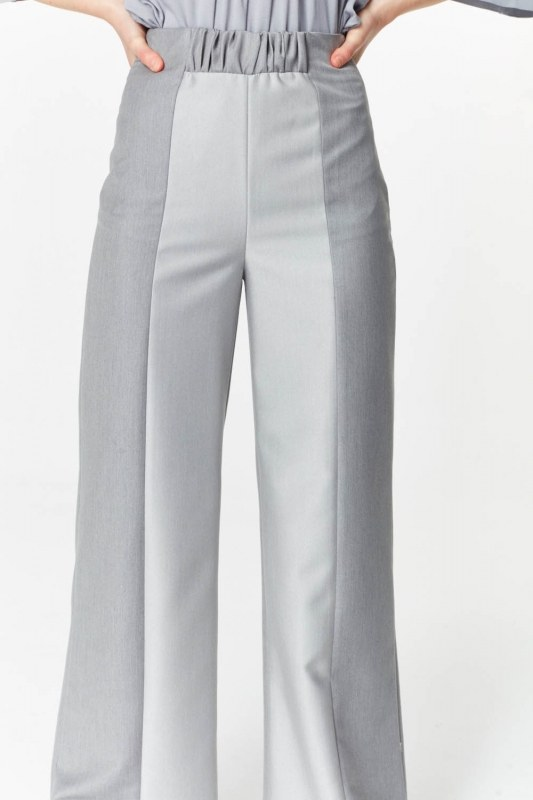 Elastic Waist Detailed Pants (Grey)