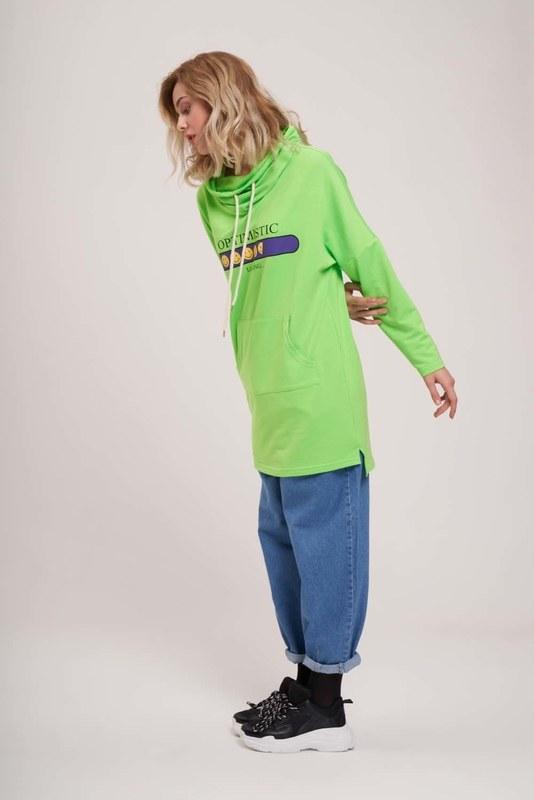Emoji Baskılı Sweatshirt (Yeşil)