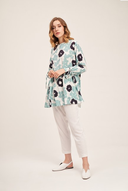 Floral Detailed Tunic (Patterned) - Thumbnail