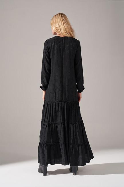 Frilly Skirt Dress (Black) - Thumbnail