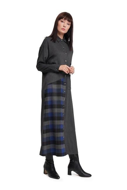 Plaid Dress (Anthracite) - Thumbnail