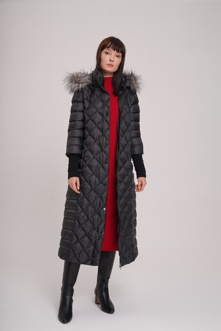 Sim Laced Down Jacket (Black) - Thumbnail