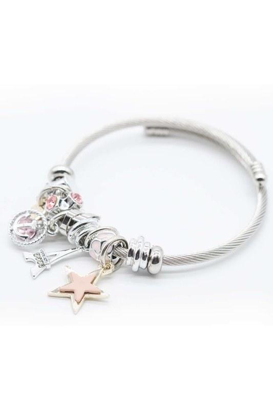 Eiffel Tower Bracelet (Pink)