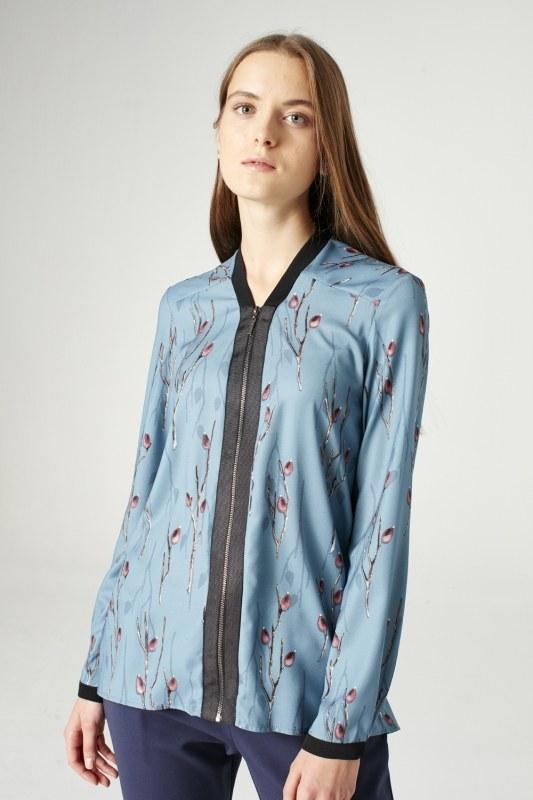 قميص بسحاب ( أزرق )