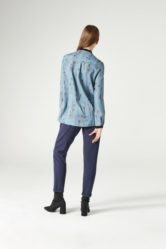 Shirt With Zipper (Blue)