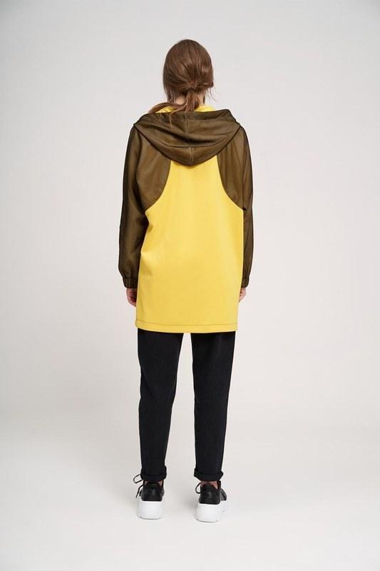 File Detaylı Sweatshirt (Sarı)